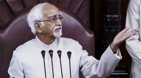Hamid Ansari  rejected External Affairs Minister Sushma Swaraj's plea against a debate on the matter.