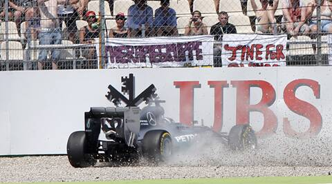 Hamilton ended up sore and 16th after a heavy crash. (Source: AP)