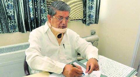 Signing papers on Uttarakhand at AIIMS in Delhi.Source: Virender Singh Negi