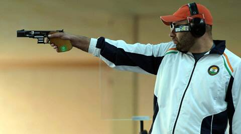Harpreet had to be content with a silver in the 25m rapid fire pistol event. (Source: PTI)