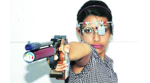 Heena Sidhu has a team working with her to help overcome jitters. Source: Express Photo