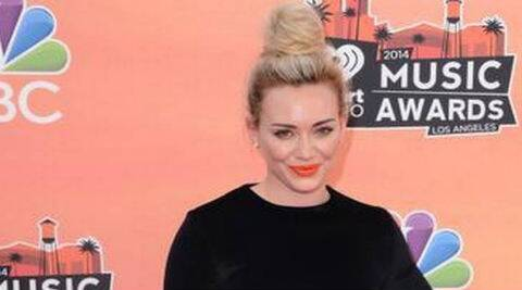 Hilary Duff's new song serves as the first single of her comeback album. (Source: AP)
