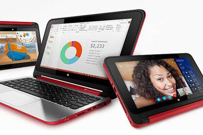 HP Pavilion x360 is a touch convertible PC featuring a 360-degree hinge that enables users to easily convert from notebook to a stand, tent or tablet mode.