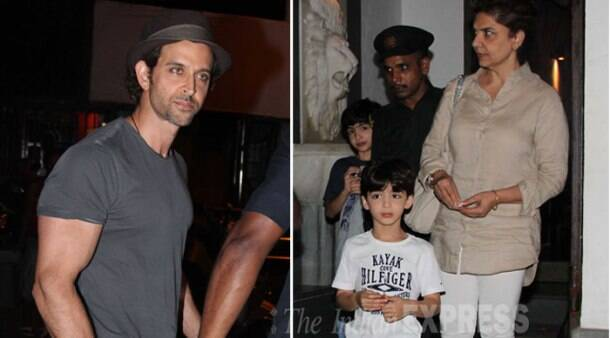 Hrithik Roshan takes sons out for pizza treat with their daadi
