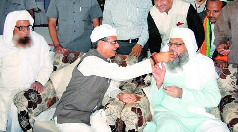 Shivraj during a recent Iftar party at his residence. Source: Express Photo