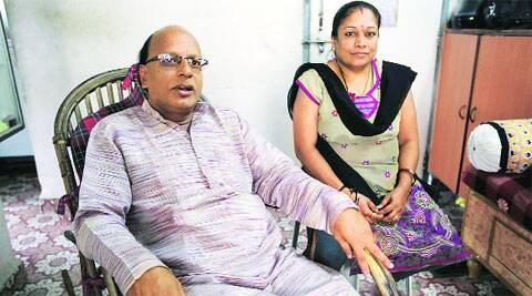 Swaminathan was a hostage for 5 days and  returned home a few days back. (Source: IE photo by Sandeep Daundkar)