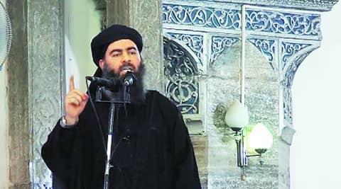 Video grab reportedly showing Abu Bakr al-Baghdadi.