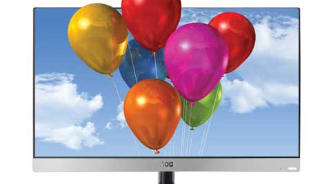 The LE23A6730/61 3D is a compact LED TV with the 1080p full HD screen resting on a chrome finish tray.