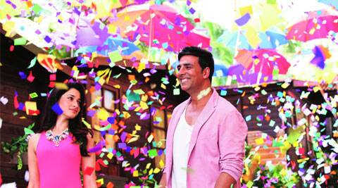 A still from the  song featuring Akshay Kumar and Tamannaah