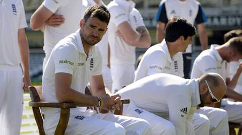 James Anderson and teammates pose for a group photograph before the 2nd Test at Lord's. (Source: Reuters)