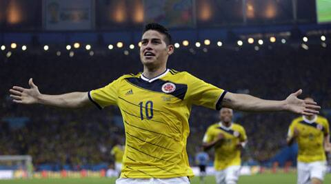 Rodriguez has been one of the tournament's sensations so far and has helped Colombia reach so far. (Source: AP)