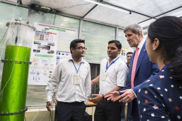 US Secretary of State John Kerry visits IIT Delhi, Cottage Emporium