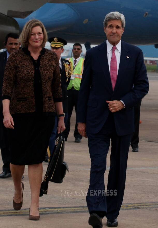 John Kerry arrives in India