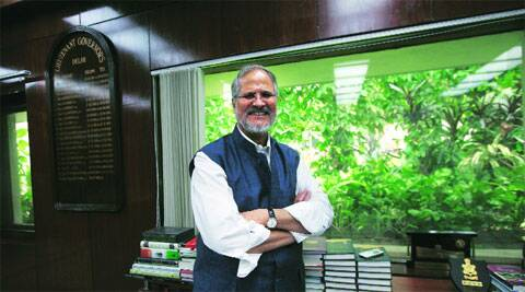 Lt-Governor Najeeb Jung in his office on Monday.  Renuka Puri
