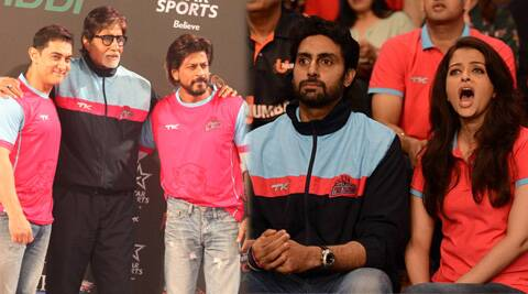 Abhishek Bachchan's kabaddi team faced their first match in the Pro Kabaddi League.