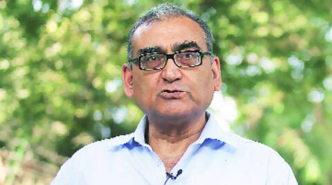 Between May 2014, when he posted his first blog since October 2013, and Tuesday, Katju had written 74 blogs.  Source: Express Photo