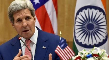 US Secretary of State John Kerry speaks during a joint press conference in New Delhi on Thursday. (Source: PTI)