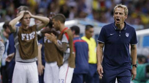 Klinsmann and the United States exited Brazil 2014 on Tuesday after losing 2-1 to Belgium in a thrilling last 16 game which exploded into life during extra-time. (Source: AP)