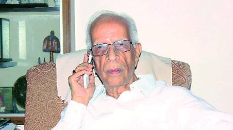 Newly appointed West Bengal Governor Kesari Nath Tripathi at his Allahabad residence on Monday.