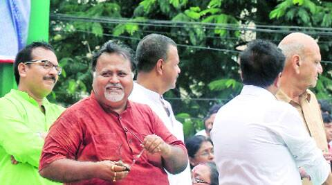Partha at TMC's July 21 rally. (Partha Paul)