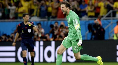 Krul was bought on to replace Cillesen just before the penalty shootout. It turned out to be a master stroke as Krul saved two spot kicks to take the Dutch to the final four. ( Source: AP)