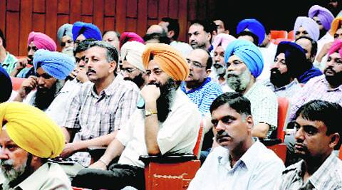 At the general body meeting of PAUTA . (Source: IE photo by Gurmeet  Singh)
