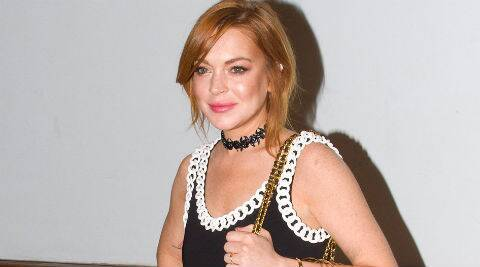 Lindsay Lohan collected the prize at the festival in Italy earlier this week. (Source: AP)