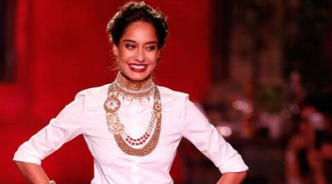 Lisa Haydon sashayed down the ramp.