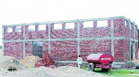 The under construction building for sterlisation of dogs at Haibowal in Ludhiana. (Source: Gurmeet Singh)