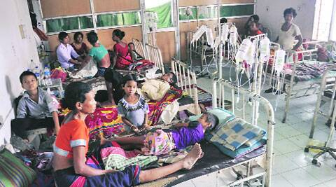 Malaria patients at a primary health centre in Gandacharra, some 170 km north of Agartala