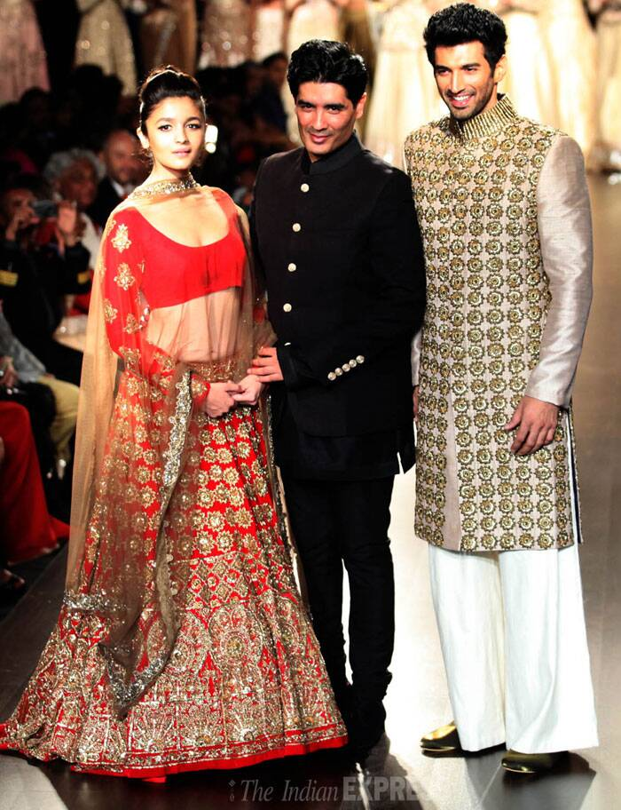 Alia Bhatt, Aditya Roy Kapur turn show-stoppers for Manish Malhotra