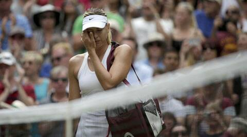 Maria Sharapova after her loss to Kerber at Wimbledon. (Source: Reuters)