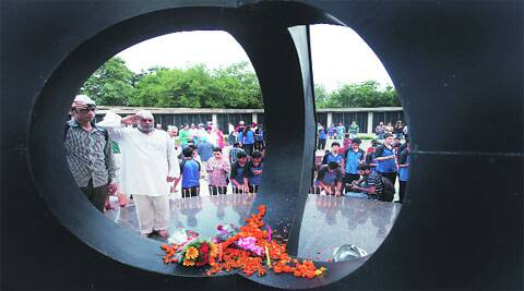 Candle-lighting ceremony to remember martyrs of Kargil at War Memorial in Chandigarh on Saturday.
