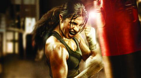 Priyanka Chopra plays the role of the Olympic boxer M C Mary Kom.