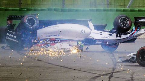 Felipe Massa crashed out in the first corner at Hockenheim (Source: AP)