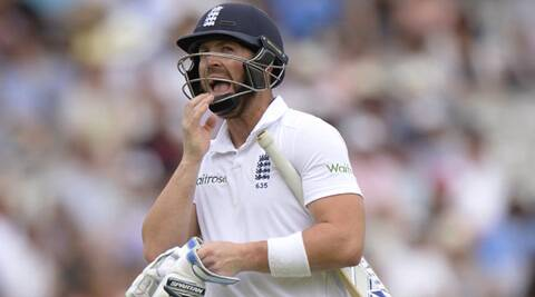 Matt Prior scored 23 and 12 in the 95-run loss in this second Test (Source: Reuters)