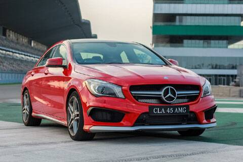 A look at the mercedes benz cla 45 amg the indian express for All models of mercedes benz cars in india
