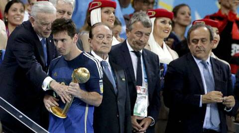 Argentina coach Alejandro Sabella said Lionel Messi was a deserving winner (Source: AP)