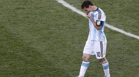 Lionel Messi reacts after Argentina failed to open the scoring against Switzerland  during half-time. (Source: Reuters)