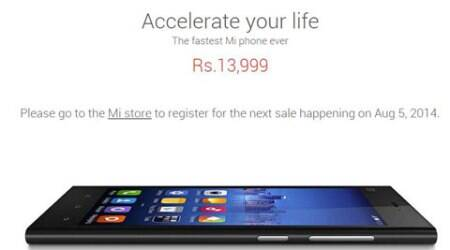 Flipkart sold out Xiaomi Mi 3 in 5 seconds