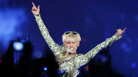 Miley Cyrus split from fiance Liam Hemsworth in September 2013. (Source: AP)