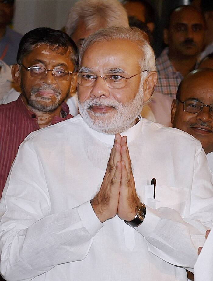 "Prime Minister Narender Modi  at the function. (Source: PTI)<br /><br />""If there was something that mattered most to Dr Mookerjee it was serving people. He always spoke about education for the youth. His contribution to our nation is invaluable,"" Modi twitted."