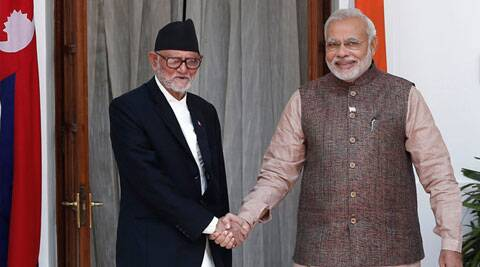Prime Minister Narendra Modi shakes hands with his Nepalese counterpart Sushil Koirala before the start of their bilateral meeting in New Delhi on May 27, 2014. (Source: Reuters) Read more at: http://indiatoday.intoday.in/story/narendra-modi-nepal-economic-package-sushil-koirala-ram-baran-yadav/1/370056.html