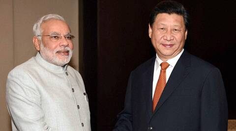 Prime Minister Narendra Modi with President of China Xi Jinping during the bilateral meeting in Fortaleza in Brazil on Monday. (PTI)