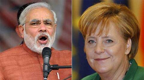 Prime Minister Narendra Modi and German Chancellor Angela Merkel (Source: Reuters)