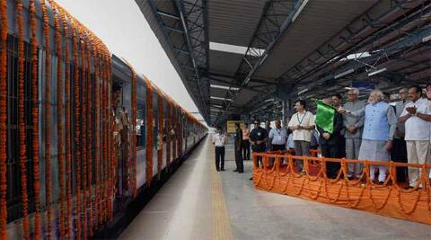"""It also envisages Metro Rail and BRT systems in towns and cities to enable an urban citizen to travel from one point to another in less than an hour at """"a reasonable price"""".  Source: PTI"""