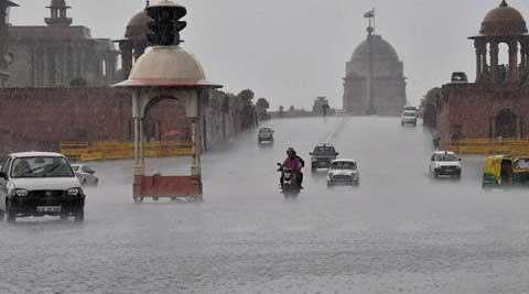 The city received 5.5 mm of rain, bringing down mercury below the 35 degree mark. (Source: PTI)