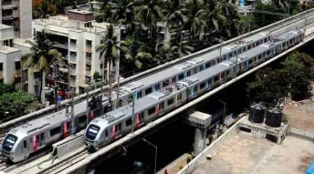 The Ghatkopar-Versova Metro route was opened for traffic last month.  (Source: PTI)