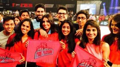 Abhishek's niece Navya cheers for mama's kabaddi team with mom Shweta