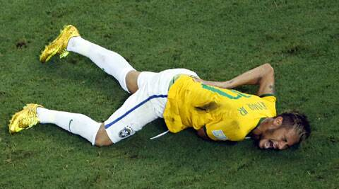 "Brazil coach Luiz Felipe Scolari fumed that Neymar has been ""hunted"" throughout the tournament and that no punishment was given for the tackle on him. (Source: AP)"